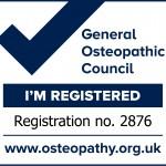 Karen Robinson General Osteopathic Council Registration number 2876